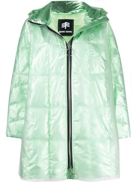 Куртка с капюшоном мятная двусторонняя на молнии металлическая Ienki Ienki