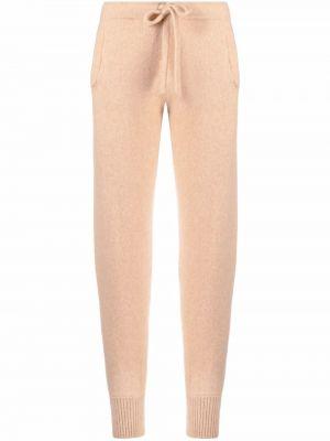 Шелковые брюки - коричневые Laneus