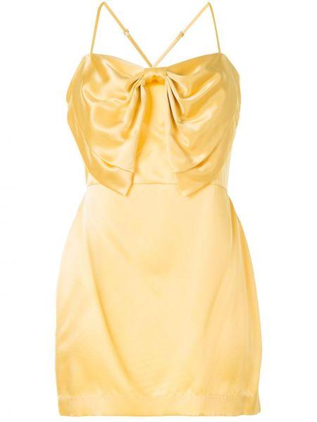 Коктейльное платье на бретелях через плечо Michelle Mason