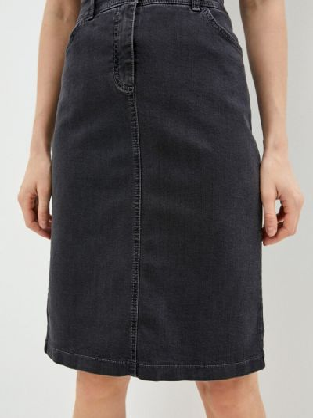 Джинсовая юбка осенняя серая Gerry Weber