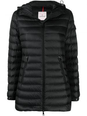 С рукавами черная длинная куртка с карманами Moncler