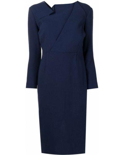 Niebieska sukienka z jedwabiu Roland Mouret