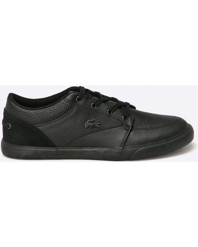 Кроссовки текстильные черные Lacoste