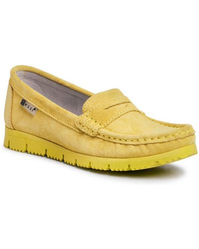 Mokasyny - żółte Nessi
