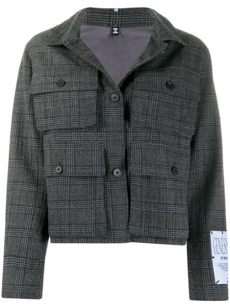 Серая классическая прямая куртка на пуговицах Mcq Alexander Mcqueen