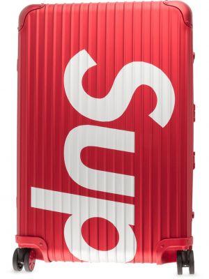 Красный чемодан Supreme