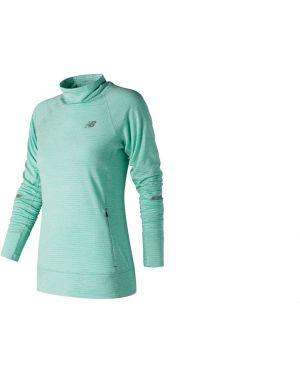 Зеленая футболка стрейчевая New Balance