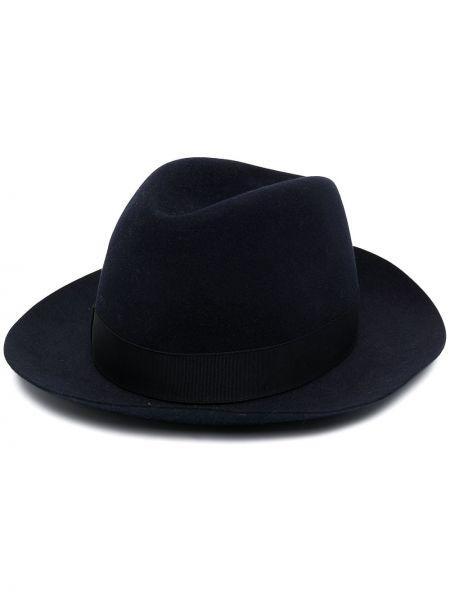 Czarny kapelusz wąskie cięcie Borsalino