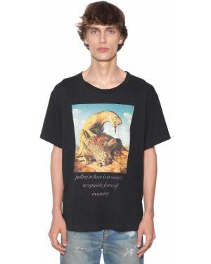 Czarny t-shirt bawełniany z printem Lost Daze Ca