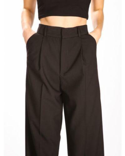 Широкие брюки - черные Dilvin