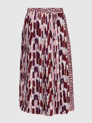 Красная юбка миди Prada