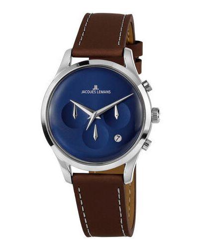 Brązowy zegarek Jacques Lemans