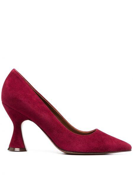 Кожаные красные туфли-лодочки без застежки L'autre Chose