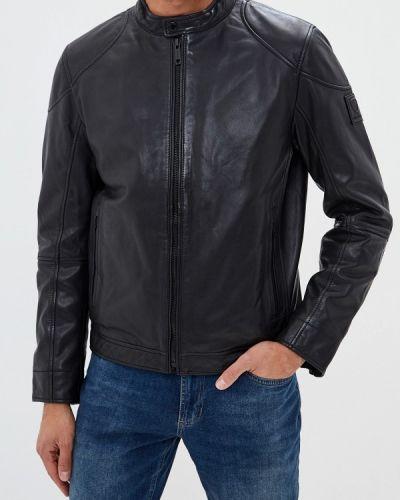 Кожаная куртка черная осенняя Strellson