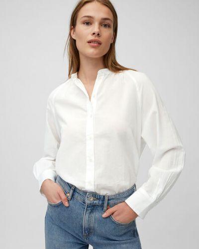 Biała bluzka nietoperze bawełniana Marc O Polo