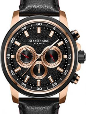 Часы механические водонепроницаемые с кожаным ремешком Kenneth Cole