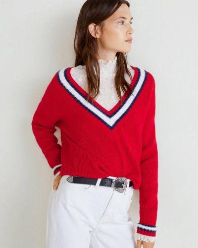Красный пуловер 2018 Mango