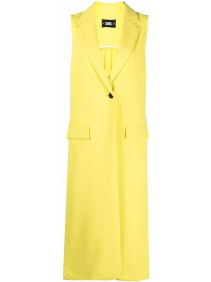 Klasyczna żółta kamizelka bez rękawów Karl Lagerfeld