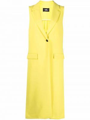 Желтая классическая жилетка без рукавов на пуговицах Karl Lagerfeld