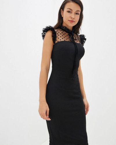 Черное вечернее платье Gepur