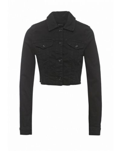 Джинсовая куртка черная весенняя Gas