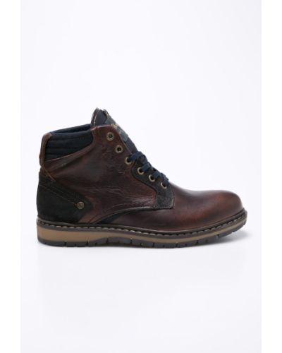 Ботинки на шнуровке кожаные высокие Wrangler