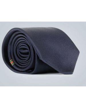 Niebieski krawat z jedwabiu Gucci