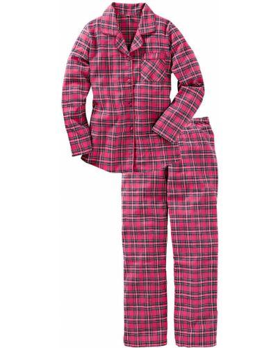 Пижама в клетку фланелевая Bonprix