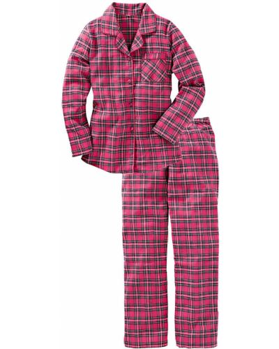 Розовая фланелевая пижама Bonprix