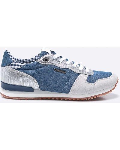 Кроссовки на шнуровке текстильные Pepe Jeans