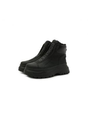 Черные кожаные ботинки Bogner