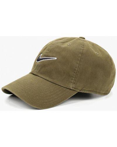 Бейсболка хаки зеленый Nike