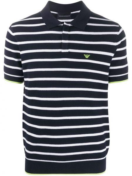 Koszula krótkie z krótkim rękawem klasyczna z paskami Emporio Armani