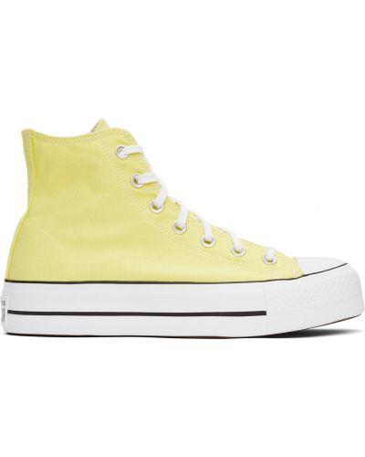 Высокие кроссовки на платформе - белые Converse