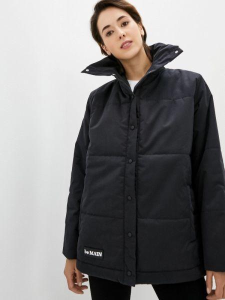 Теплая черная утепленная куртка Be Main