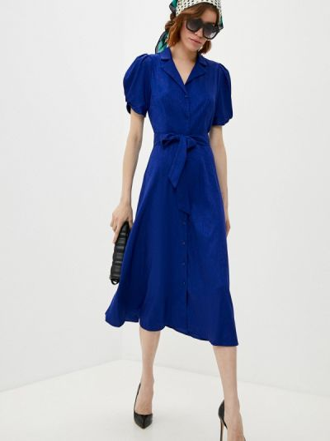 Синее платье-рубашка Dkny