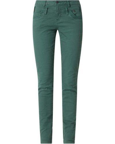 Zielone spodnie z wysokim stanem bawełniane Buena Vista