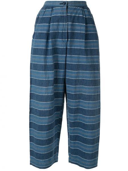 Укороченные брюки винтажные с поясом на пуговицах свободного кроя Issey Miyake Pre-owned