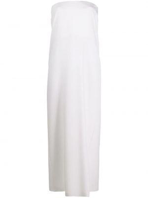 Прямое шелковое белое платье макси Emilio Pucci