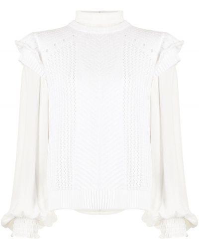 Beżowa bluzka z wiskozy Nicole Miller