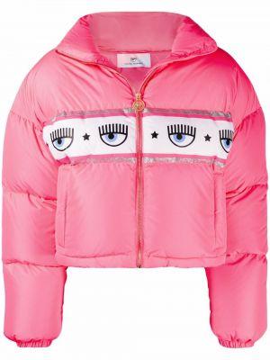 Розовая куртка с перьями Chiara Ferragni