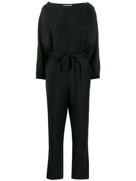 Черный комбинезон с поясом свободного кроя Carolina Ritzler