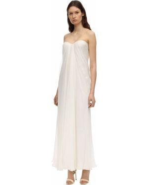 Драповое платье макси Alexander Mcqueen