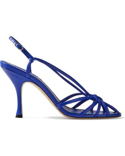 Sandały skórzane - niebieskie Victoria Beckham