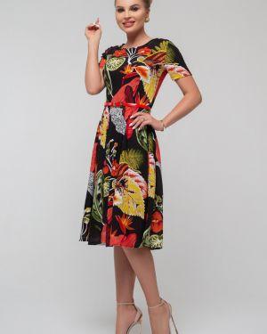 Приталенное повседневное с рукавами платье миди Петербургский Швейный Дом