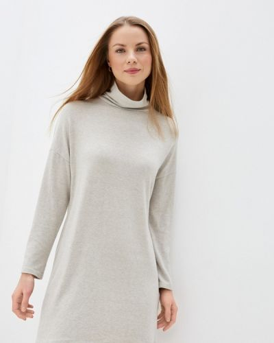 Бежевое трикотажное вязаное платье Tantra