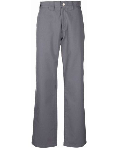 Spodnie z paskiem bawełniane z haftem Affix