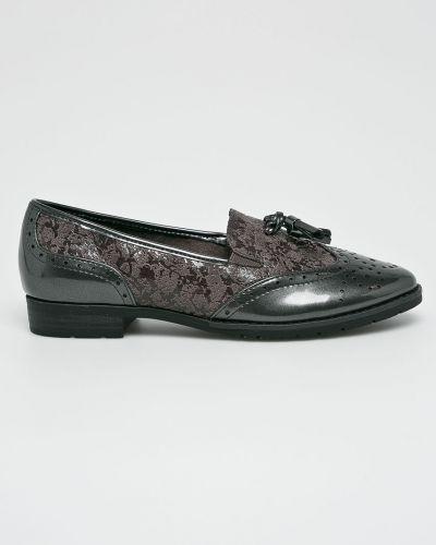 Туфли на каблуке серые Jana