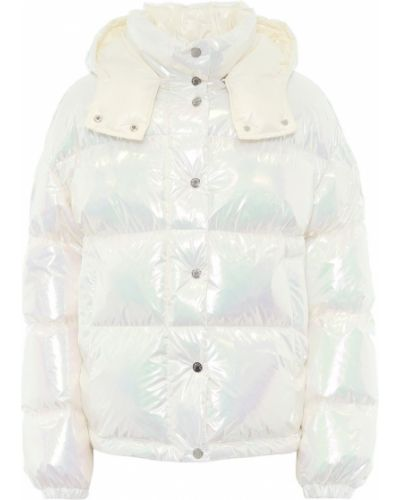 Стеганая пуховая белая стеганая куртка Moncler