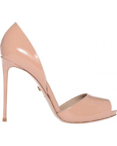 Кожаные туфли лаковые на каблуке Le Silla